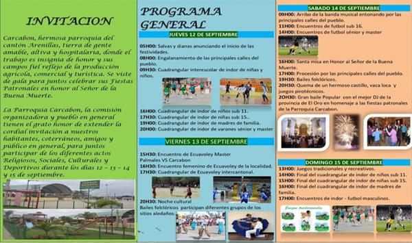 FIESTAS DE CARCABON SEPTIEMBRE 2019